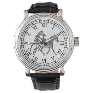 Reloj galopante de las cebras