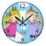Reloj gemelo de las princesas niñas