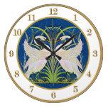 Reloj gemelo de los cisnes de Nouveau del arte de