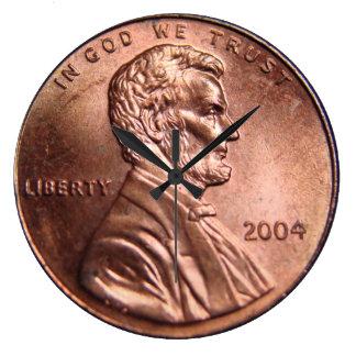 Reloj gigante de la moneda del penique