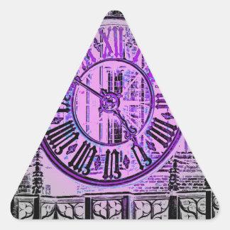 Reloj gigante gótico del número romano pegatina triangular