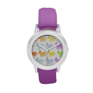 Reloj gomoso del unicornio del arco iris
