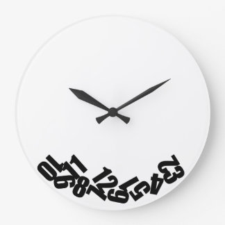 Reloj gracioso Las horas del reloj se han caído