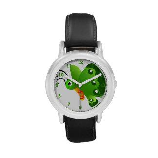 Reloj gráfico de la mariposa verde