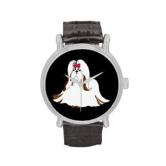 Reloj grande de Shih Tzu Sondra