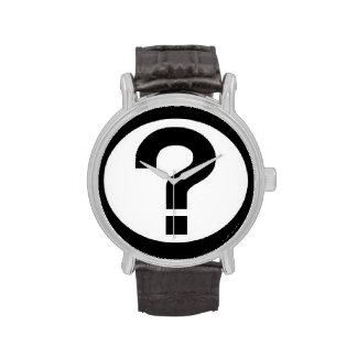 Reloj grande del signo de interrogación