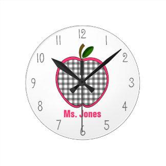 Reloj gris del profesor de Apple de la guinga