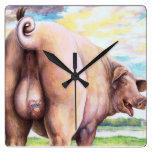 Reloj grosero del cerdo