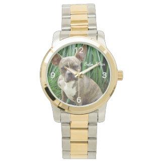 Reloj gruñón del perro de Boston Terrier