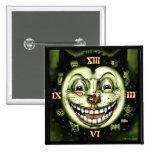 Reloj Halloween del gato negro 13 Pin Cuadrado