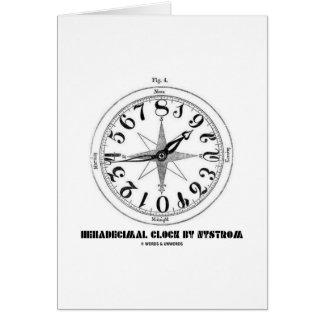 Reloj hexadecimal por Nystrom (ejemplo) Tarjeta De Felicitación