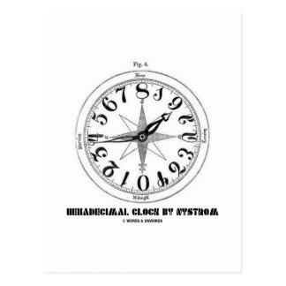 Reloj hexadecimal por Nystrom (ejemplo) Tarjeta Postal