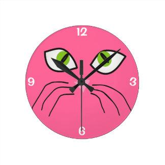 Reloj II de la cara del gato de los amantes del ga