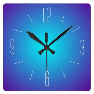 Reloj iluminado azul con clase del diseño > de