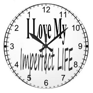 Reloj imperfecto del dial del revés de la vida