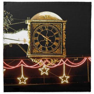 Reloj imponente en Navidad Servilletas De Papel