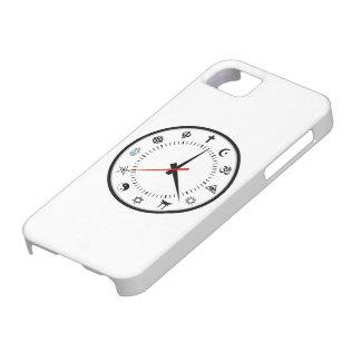 reloj importante del símbolo de las religiones del iPhone 5 Case-Mate cárcasas