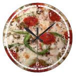 Reloj impresionante de la pizza