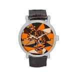Reloj impresionante del arte abstracto del tigre