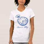 Reloj inclinable de la cara del reloj de bolsillo camiseta