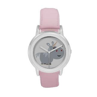 Reloj inescrutable lindo del unicornio del dibujo