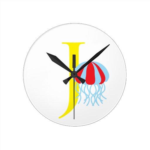 Reloj inicial de la letra J