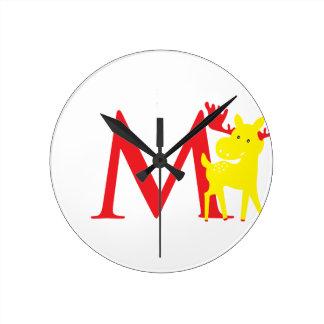 Reloj inicial de la letra M
