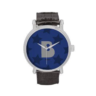 Reloj Inicial Estrellas Blue