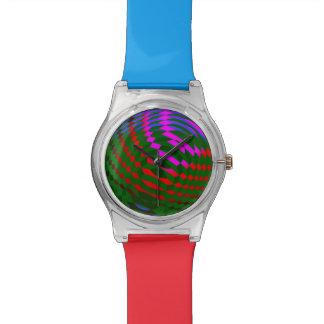 Reloj innumerable del modelo abstracto geométrico