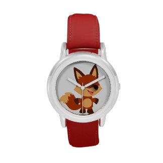 Reloj inocente lindo del Fox del dibujo animado