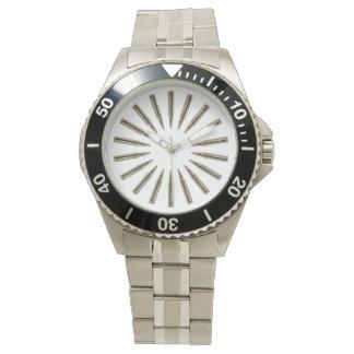 Reloj inoxidable del círculo de la bala