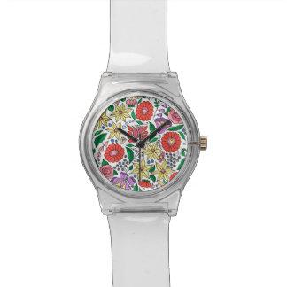 Reloj inspirado bordado húngaro