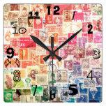 Reloj internacional del sello (con números)