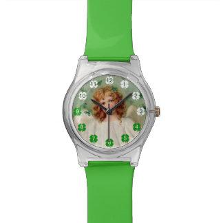 Reloj irlandés del ángel del vintage