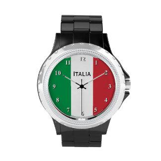 Reloj italiano de la bandera para los hombres y