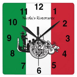 Reloj italiano de Pizzaria del restaurante
