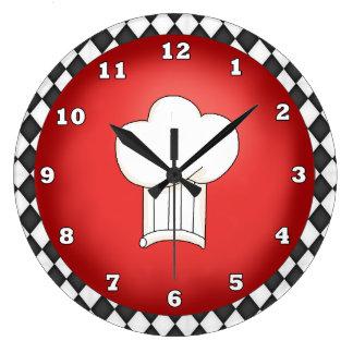 Reloj italiano del gorra del cocinero