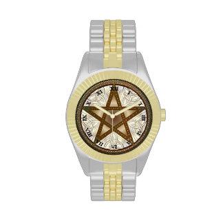 Reloj Knot-3 del Pentagram, Tri-Quatra y céltico