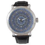 Reloj laminado de la mandala del lapislázuli
