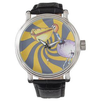 Reloj libre de la correa de cuero del vintage del
