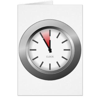Reloj ligero tarjeta de felicitación