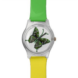 Reloj lindo de la mariposa