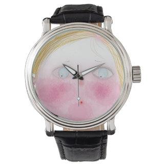 Reloj lindo de la niña