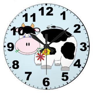 Reloj lindo de la vaca con números