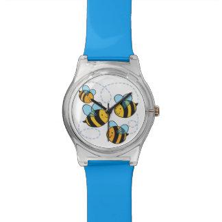 Reloj lindo de las abejas