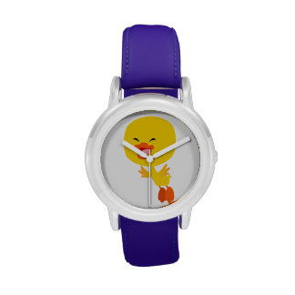 Reloj lindo del anadón del dibujo animado del