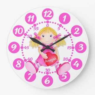 Reloj lindo del blanco del rosa del arte del