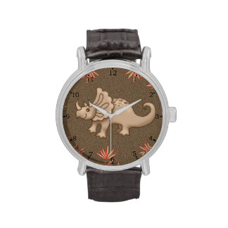 Reloj lindo del dinosaurio