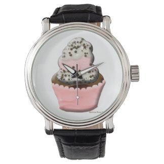 Reloj lindo del ejemplo del diseño de la magdalena
