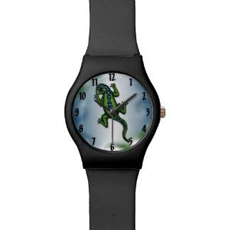 reloj lindo del lagarto